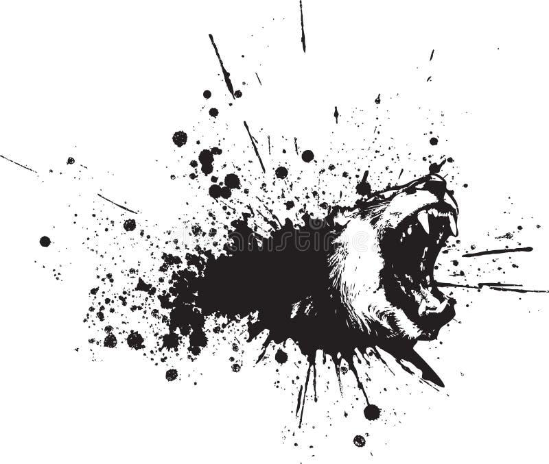 Spruzzo astratto del leone di vettore illustrazione di stock