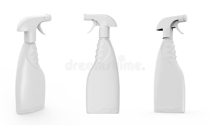 Spruzzo bianco della bottiglia isolato immagini stock libere da diritti