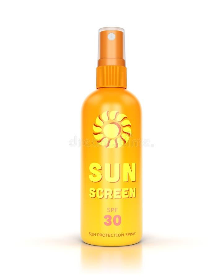Spruzzo di Sun isolato su bianco fotografia stock