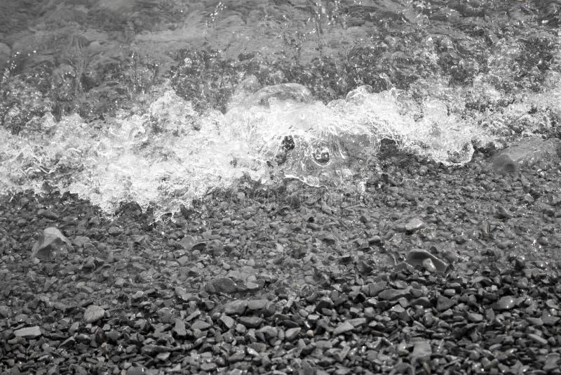 Spruzzo soffiato dalle onde immagini stock