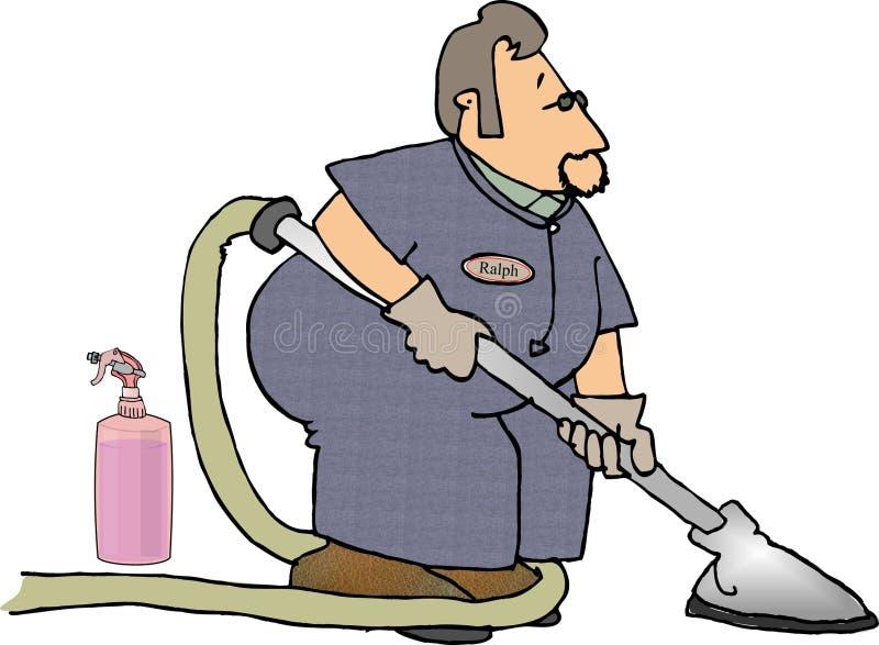 sprzątacza dywanowy ilustracja wektor