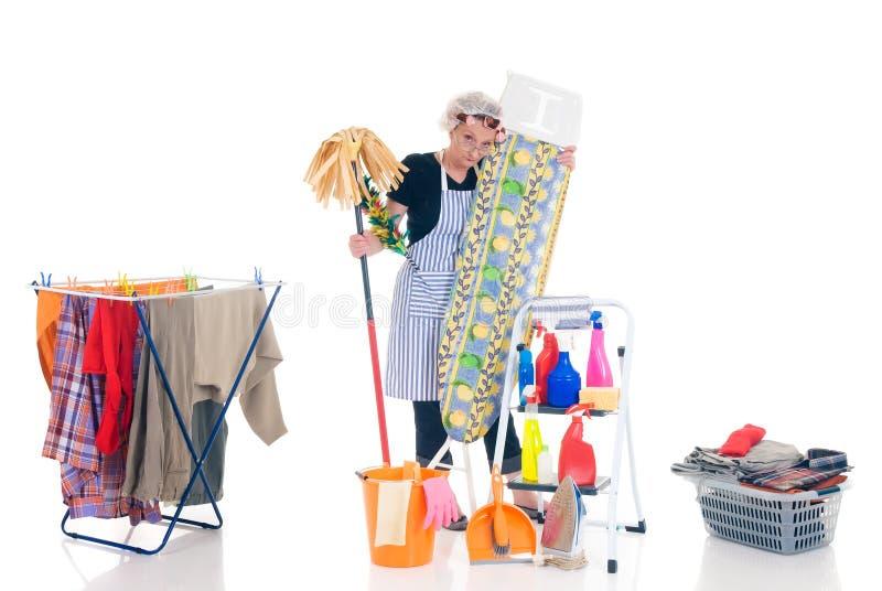 sprzątaczka gospodarstwa domowego zdjęcia stock