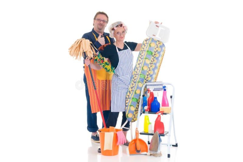 sprzątaczka gospodarstwa domowego zdjęcia royalty free