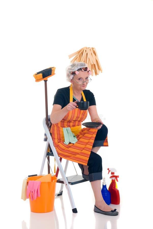 sprzątaczka gospodarstwa domowego obraz stock