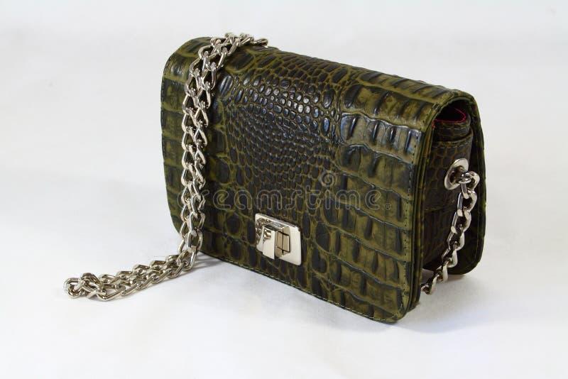 sprzęgłowe krokodyla dzień torebki skóry kobiety obrazy royalty free