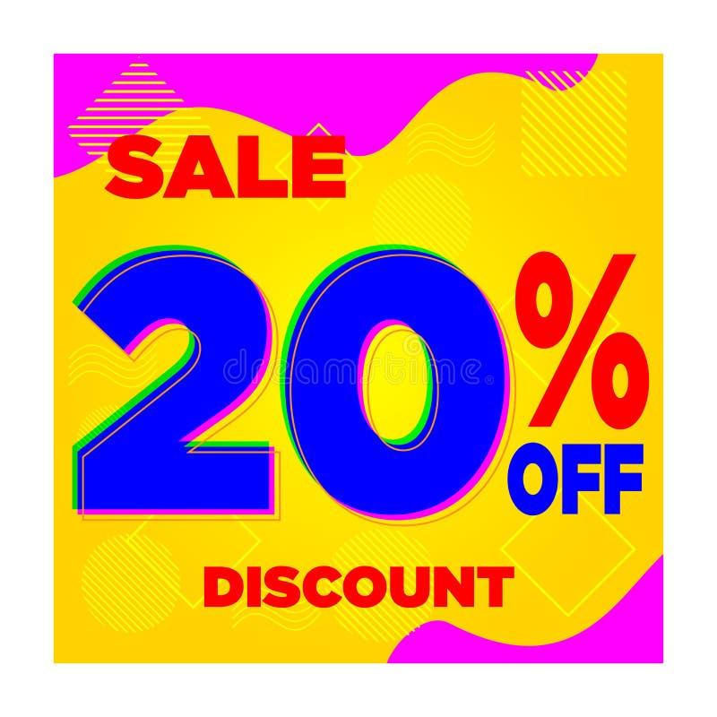 SPRZEDAŻY ŻÓŁTY błękit 10% 20% 30% 40% 60% DISCOUNT-02 ilustracji