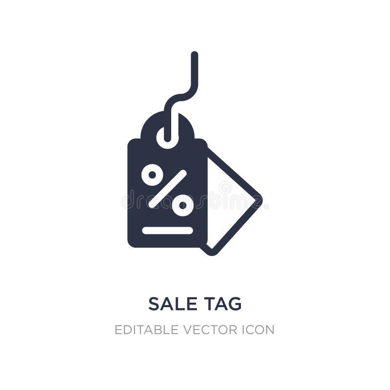sprzedaży etykietki ikona na białym tle Prosta element ilustracja od Biznesowego pojęcia royalty ilustracja