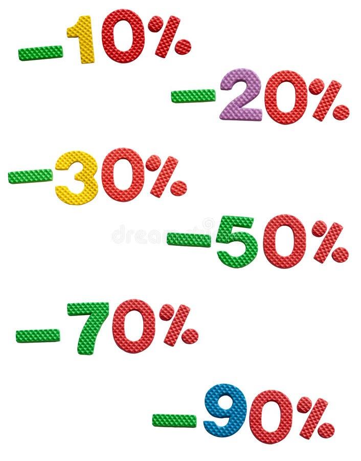 Sprzedaż, 10 90% daleko obrazy stock