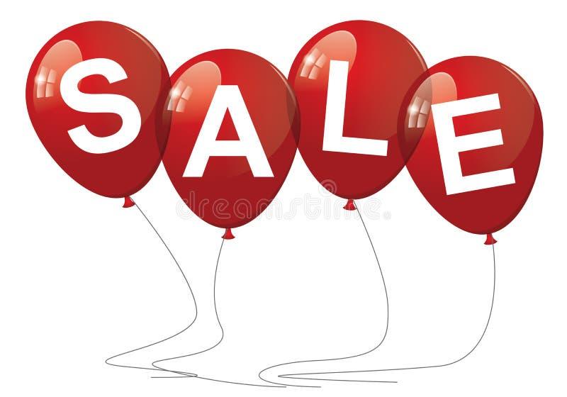 Sprzedaż balony ilustracji
