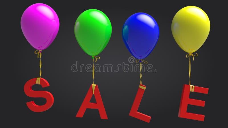Sprzedaż balony fotografia royalty free