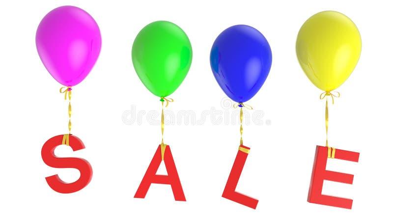 Sprzedaż balony zdjęcia royalty free