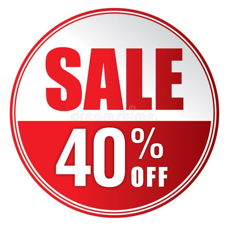 Sprzedaż 40% daleko ilustracji