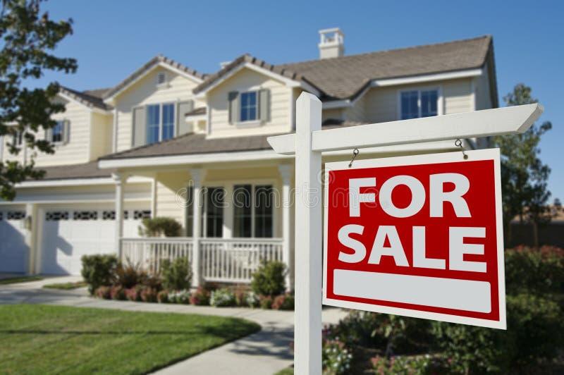 sprzedaż domowy nowy znak zdjęcia royalty free