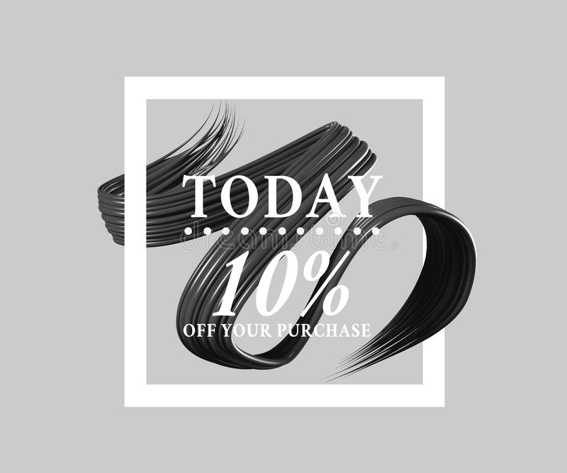 Sprzedaż 10 dzisiaj daleko podpisuje sztuki muśnięcie Doskonalić projekt dla sklepu i sprzedaż sztandarów ilustracja 3 d royalty ilustracja
