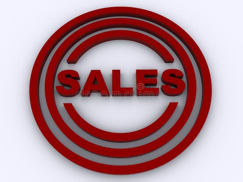 sprzedaż kółkowy znaczek ilustracji