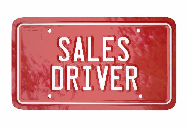 Sprzedaż kierowcy Odgórnego sprzedawcy pojazdu tablicy rejestracyjnej Samochodowi słowa royalty ilustracja