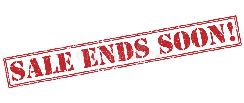 Sprzedaż kończy wkrótce! czerwień znaczek ilustracja wektor
