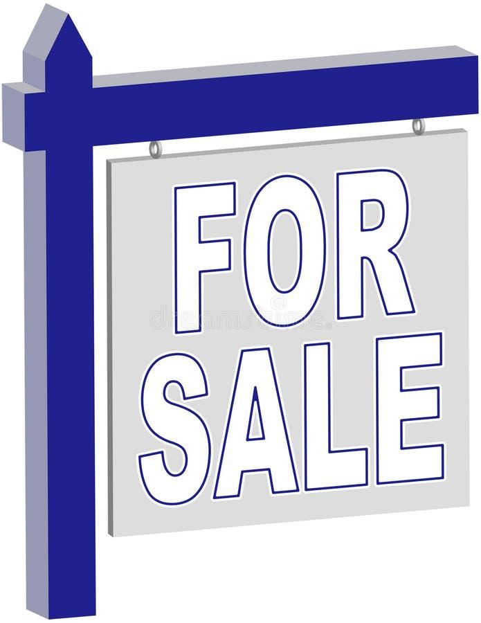 Sprzedaż Nieruchomości Prawdziwy Znak Fotografia Royalty Free