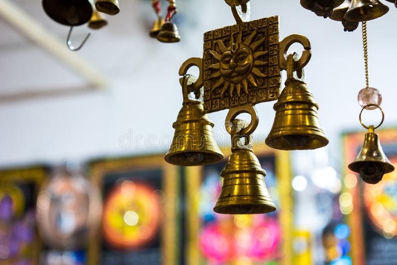 sprzedaż pamiątki przy hindusa sklepem zdjęcie royalty free