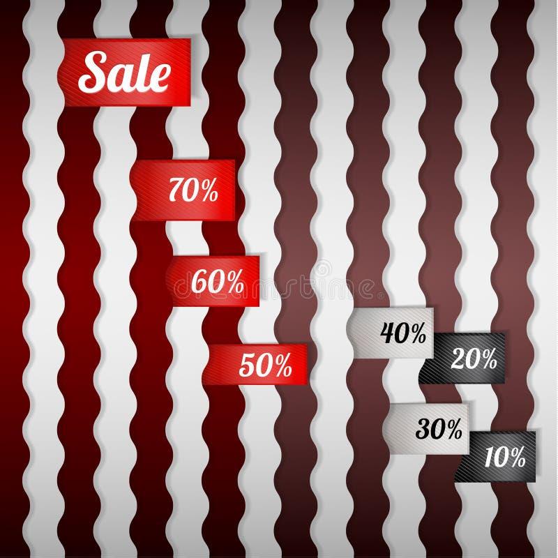 Sprzedaż plakat z procentu rabatem ilustracji