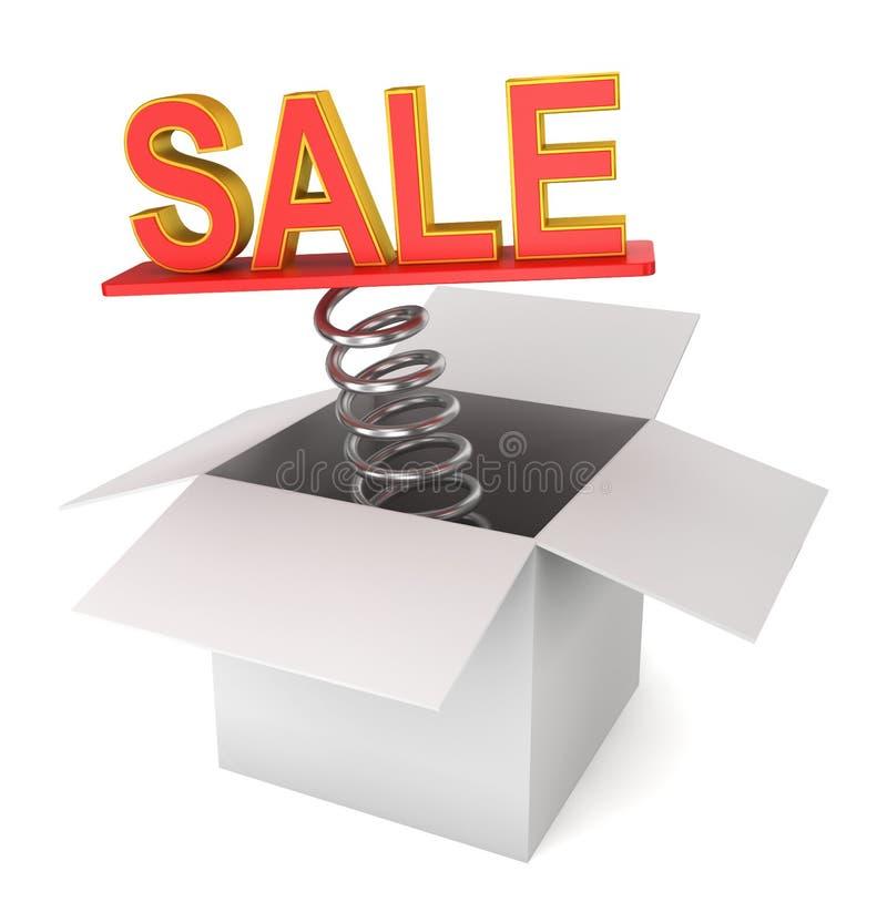 Sprzedaż przychodząca out od pudełka ilustracja wektor