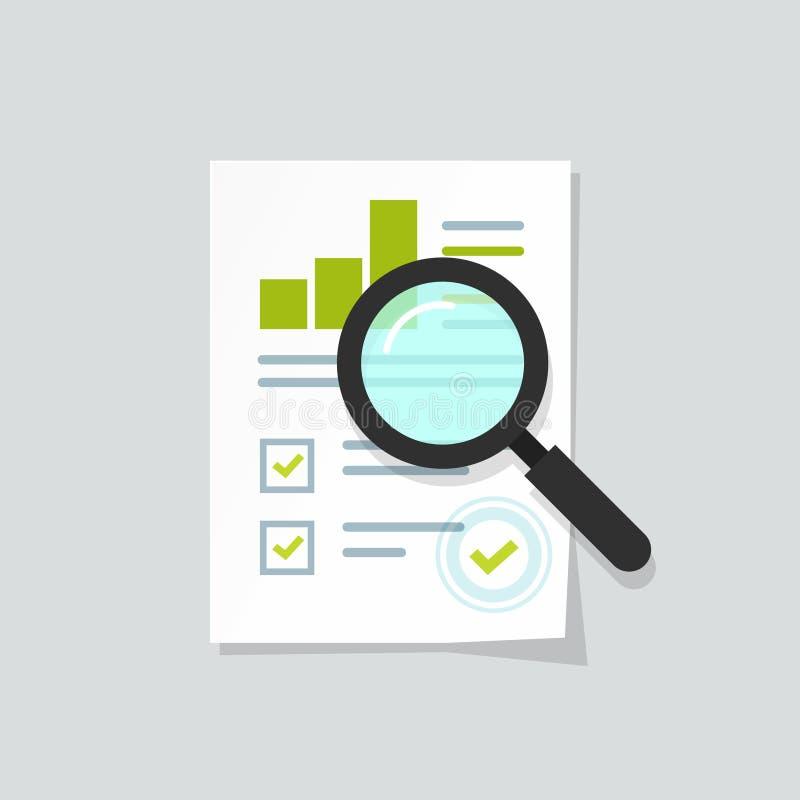 Sprzedaż przyrosta raport, analityka, dochodzenie, podnosił sprzedaż wykresu analityka dane, badawczy ikona wektor ilustracja wektor
