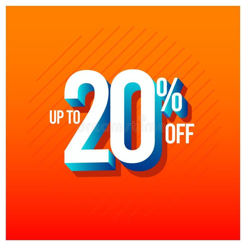 Sprzedaż rabat do 20% z Ustalonej Wektorowej szablonu projekta ilustracji royalty ilustracja