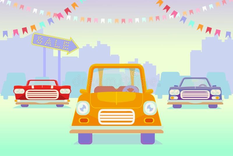 Sprzedaż samochody ilustracji