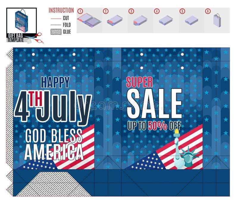 Sprzedaż szablon na druku pakunku dla wakacje zdjęcia stock