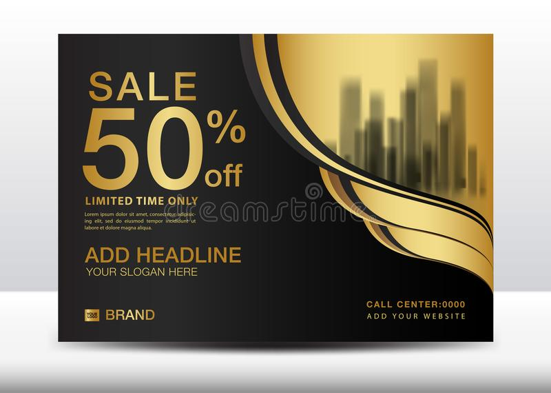 Sprzedaż sztandar, billboard, broszurki ulotka dla kosmetyków, sztandaru projekta szablonu wektoru ilustracja ilustracji
