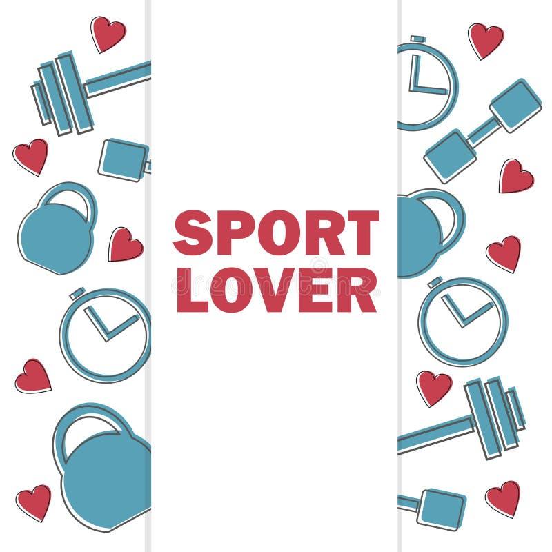 Sprzedaż sztandar dla sprawności fizycznej gym i klubu Świadectwo oferty rabaty dla sportów ilustracja wektor