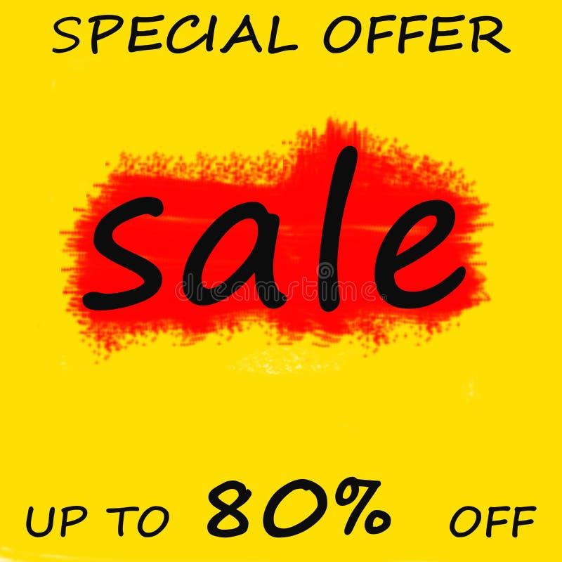 Sprzedaż sztandaru szablonu projekt, Dużej sprzedaży specjalna oferta końcówka sezon specjalnej oferty sztandar również zwrócić c royalty ilustracja