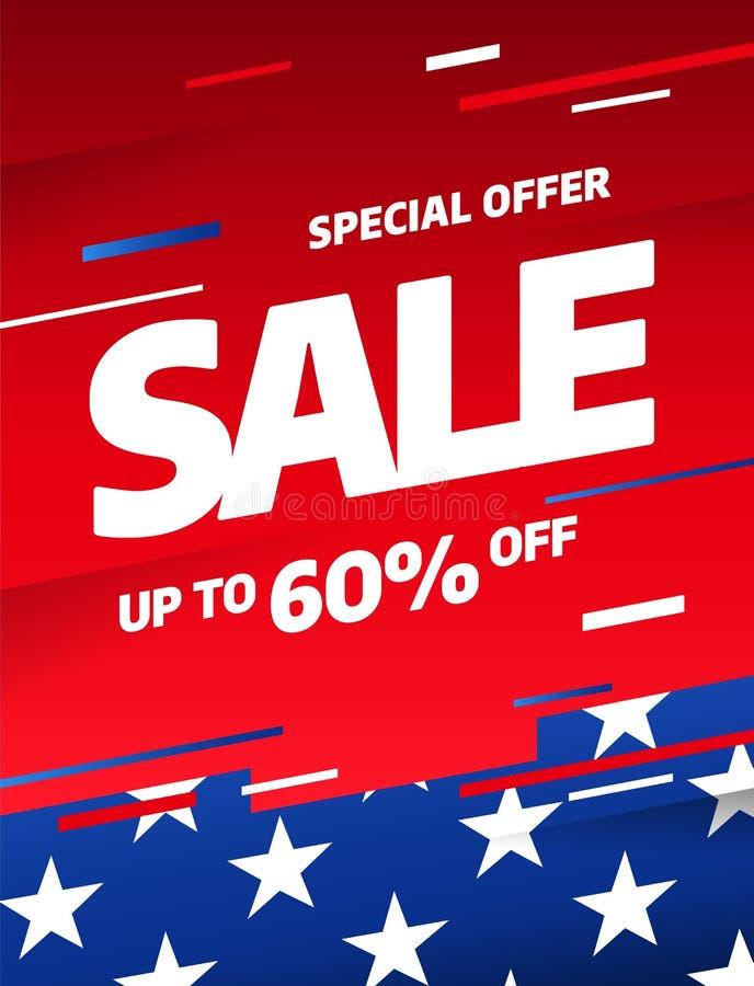 Sprzedaż sztandaru szablonu projekt Specjalna oferta