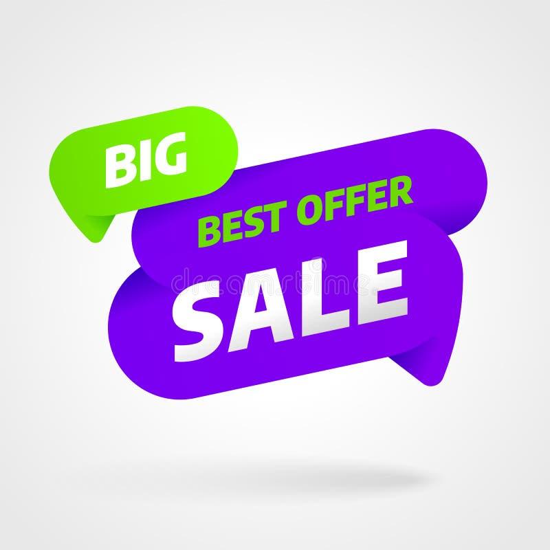 Sprzedaż sztandaru szablonu projekt Specjalna oferta również zwrócić corel ilustracji wektora