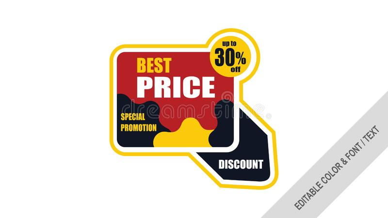 Sprzedaż sztandaru szablonu projekta etykietek sprzedaż ilustracji