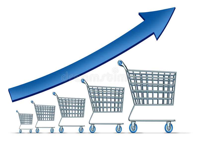 Sprzedaż wzrost royalty ilustracja