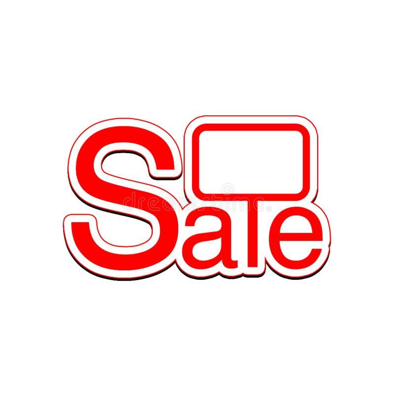Sprzedaż z znakiem dla inscription% fotografia stock