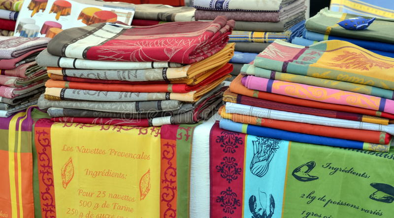 Sprzedaże kuchenni ręczniki fotografia stock