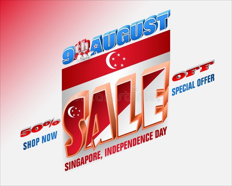 Sprzedaże Ninth Sierpień, Singapur święto państwowe ilustracji