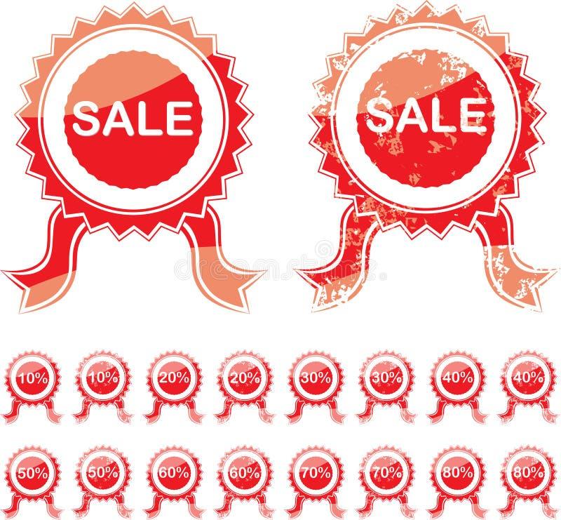 Sprzedaży czerwona foka royalty ilustracja