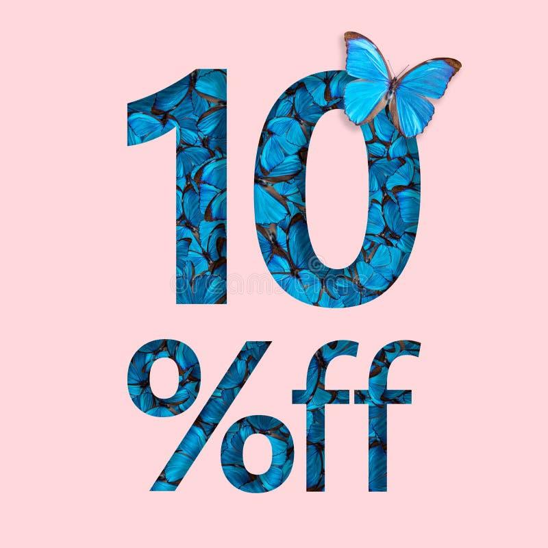 10% sprzedaży dyskontowa promocja Pojęcie elegancki plakat, sztandar, reklamy ilustracji