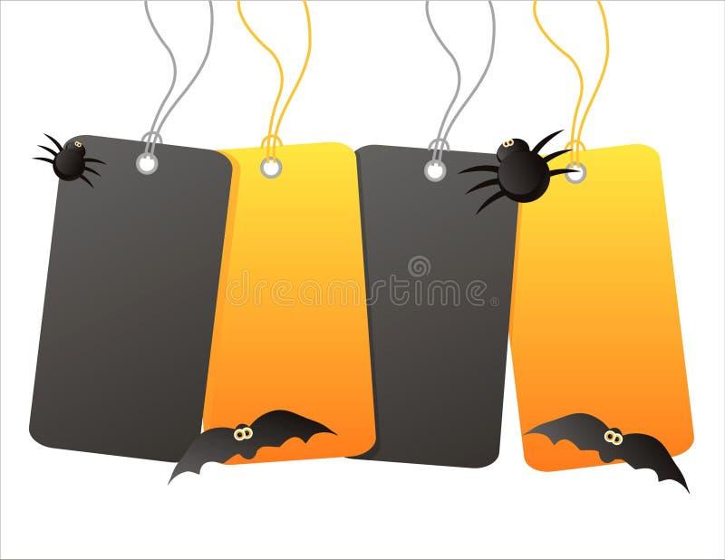 Sprzedaży halloweenowe etykietki royalty ilustracja