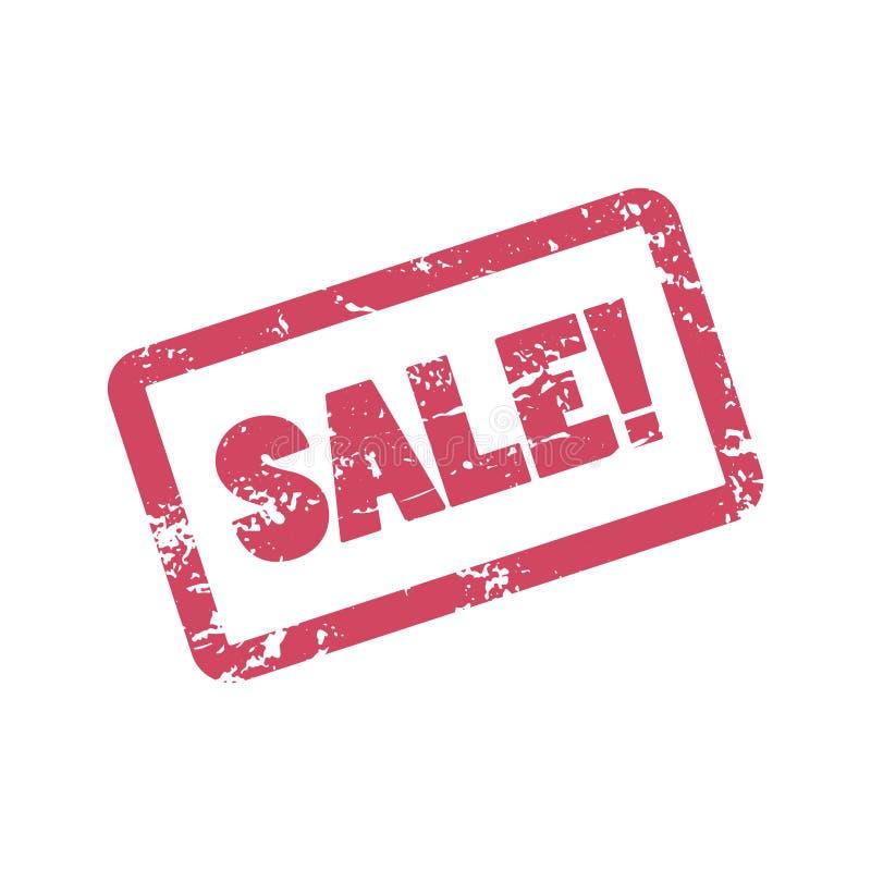 Sprzedaży inskrypcja w czerwieni ramie Pieczątki sprzedaż Sprzedaży słowa ilustracja z zakłopotanym skutkiem ilustracji