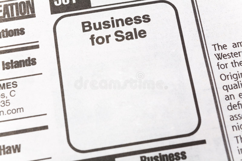 sprzedaży jednostek gospodarczych obrazy stock
