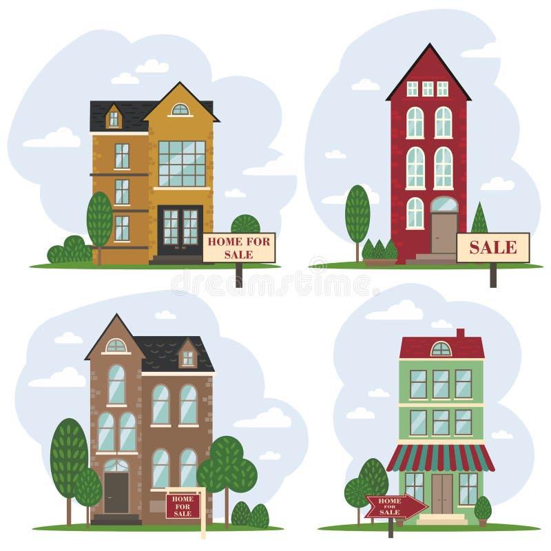 sprzedaży krajowej Amsterdam europejczyka holenderski dom ilustracji