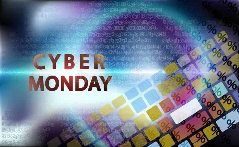Sprzedaży technologii sztandar dla cyber Poniedziałku wydarzenia Wektorowa sztuka dla twój sprzedaży promocji Klawiatura dla wcho ilustracja wektor