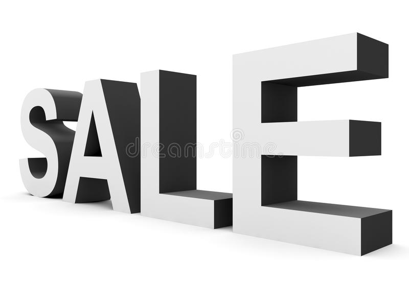 Download SPRZEDAŻ - Biali 3d Listy Odizolowywający Na Bielu Ilustracji - Ilustracja złożonej z listy, charcica: 53776181
