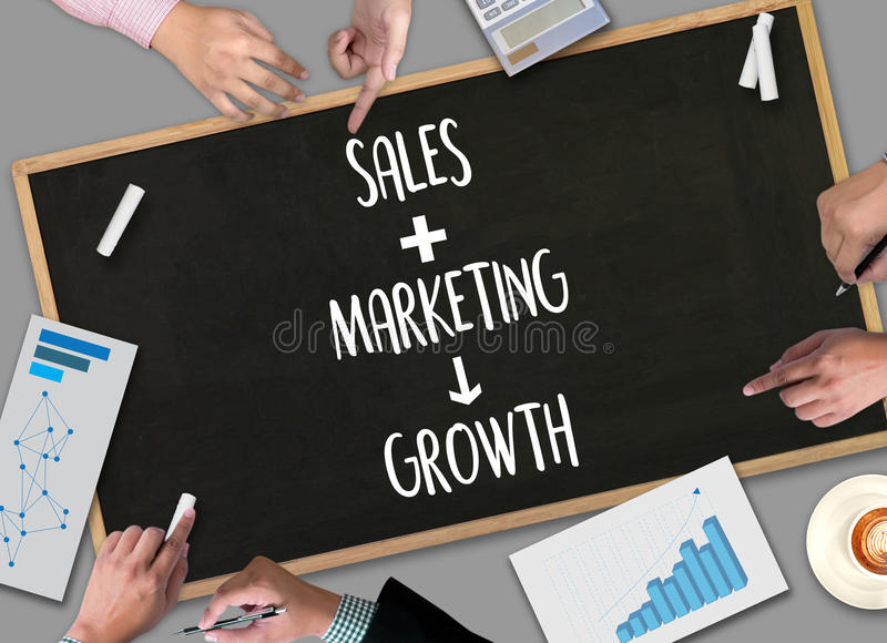 SPRZEDAŻE WPROWADZAĆ NA RYNEK CONCECT, klient sprzedaży Marketingowa deska rozdzielcza Gra zdjęcia stock