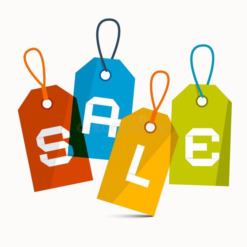 Download Sprzedaż wektoru etykietki ilustracja wektor. Ilustracja złożonej z biznes - 57654117