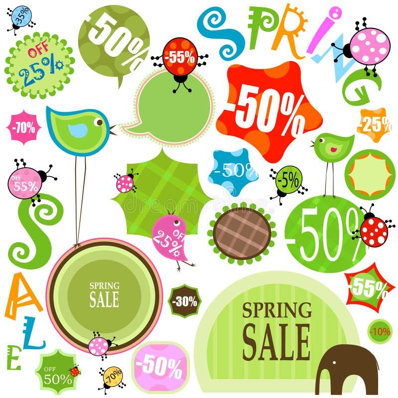 Download Sprzedaży wiosna ilustracja wektor. Obraz złożonej z foremność - 17468116